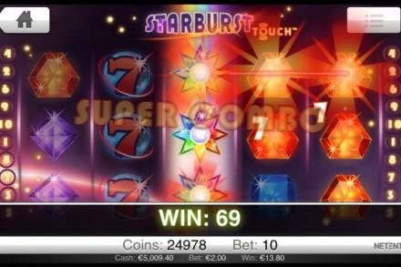 Starburst Touch Mobile Slot - NetEnt