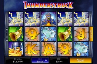 Thunderstruck Mobile Slot - Microgaming
