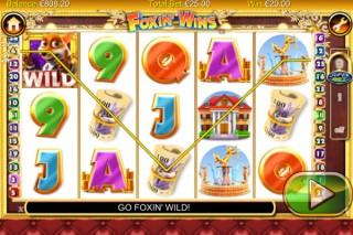 Foxin Wins Mobile Slot Screenshot