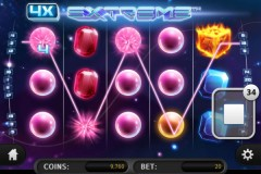Winning Symbols and Payline on Extreme Mobile Slot by Sheriff Gaming