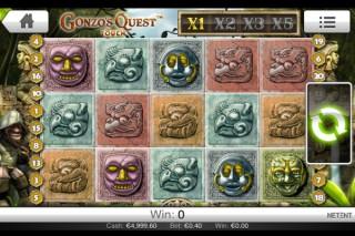 Gonzo's Quest Mobile Slot Screenshot