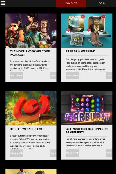 Guts Mobile Casino Promotions