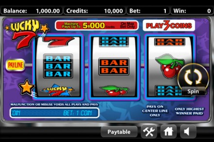 Lucky7 Classic Mobile Slot - 3 Reels, 1 Active Payline
