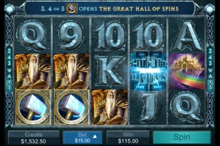 Thunderstruck II Mobile Slot by Microgaming
