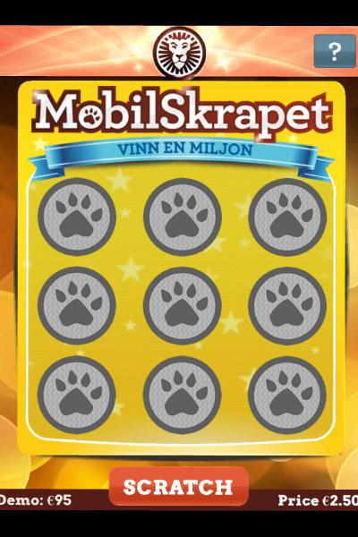MobilSkrapet Mobile Scratch Card