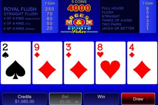 Mobile Video Poker Aces & Eights