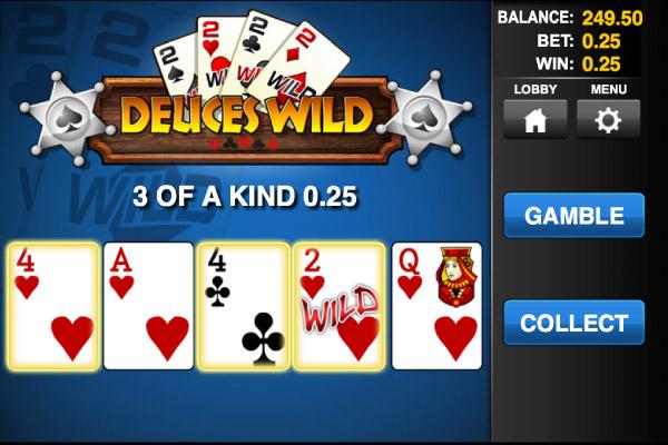Mobile Video Poker Deuces Wild