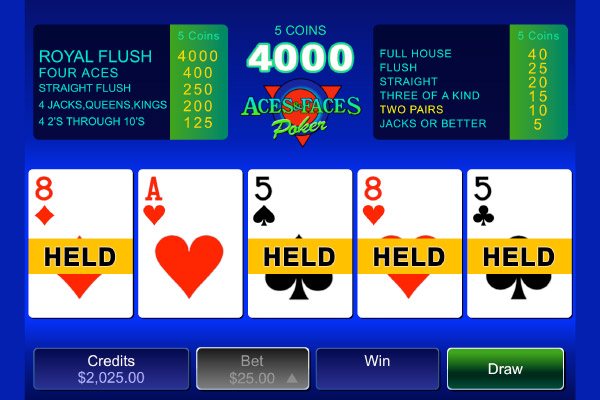 double aces and faces poker