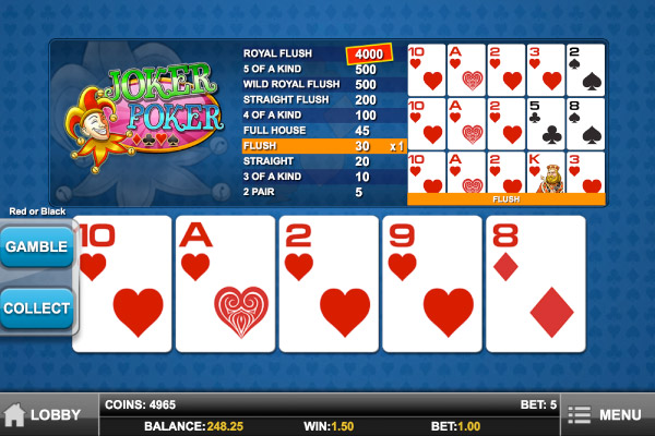 online mobile casino poker joker