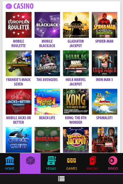 bgo mobile slots casino and bingo games