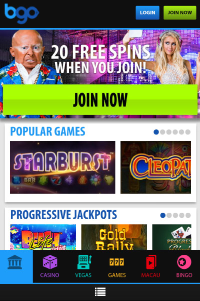 bgo mobile casino