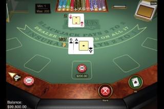 Microgaming European Blackjack Table