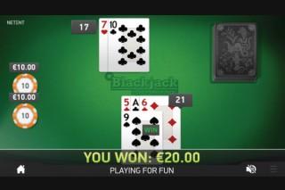NetEnt Single Hand Blackjack Game