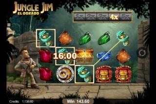 Microgaming Jungle Jim Mobile Slot Screenshot