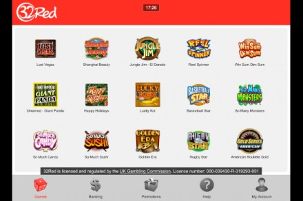 32red mobile casino 10 free