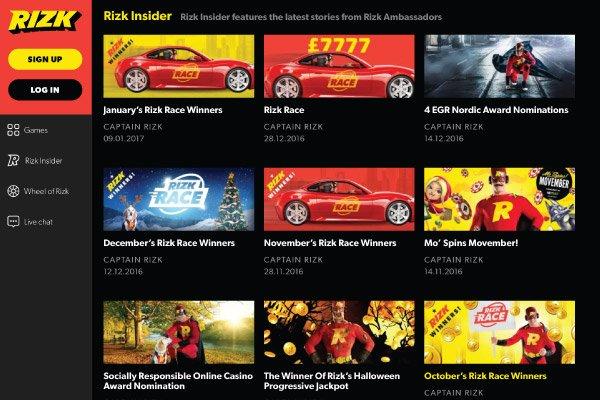 Rizk Mobile Casino Insider Promotions