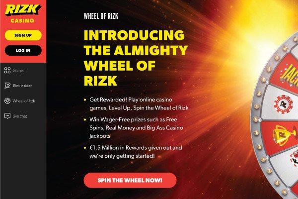 Rizk Mobile Casino Bonus Wheel