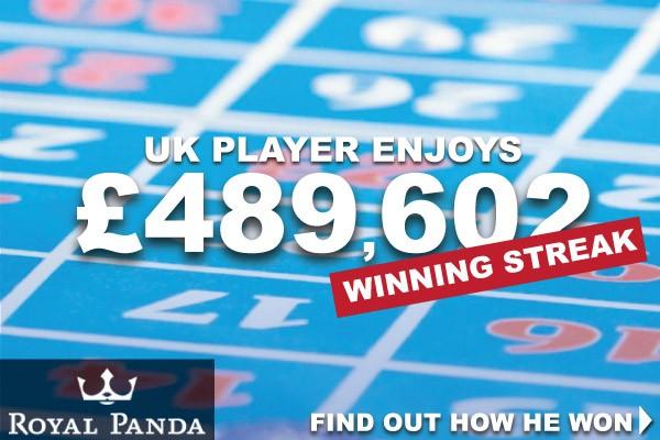 UK Roulette Player Wins Big At Royal Panda Casino