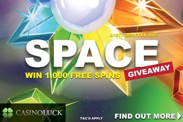 Win 1,000 Casinoluck Casino Free Spins On Starburst