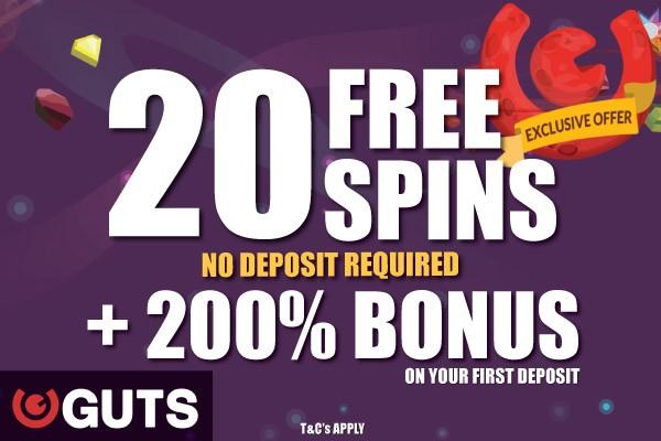 Guts Free Spins Exclusive + 200% Bonus