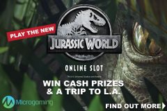 Win Cash Prizes & More In The Jurassic World Online Slot Promotion