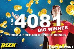 Rizk Casino No Deposit Bonus Big Winner