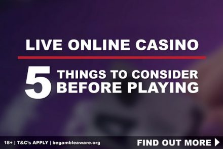 Live Online Casino - 5 Things To Consider Before Playing