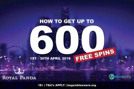 Get Up To 600 Free Spins At Royal Panda Casino In April