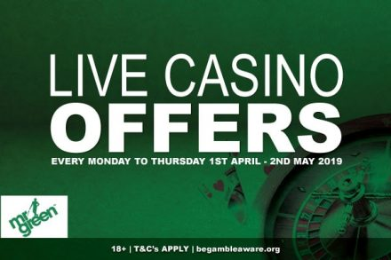 Live Casino Offers At Mr Green In April