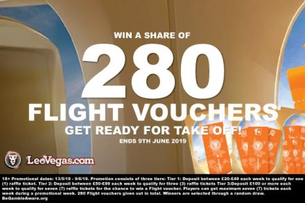 Win Flight Vouchers In The Latest LeoVegas Casino Promo