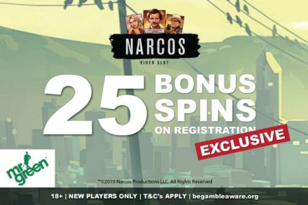 Get Your Exclusive Mr Green Bonus Spins On Narcos