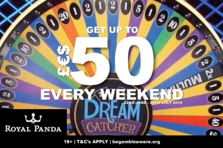 Get Up to 50 Every Weekend At Royal Panda Mobile Casino