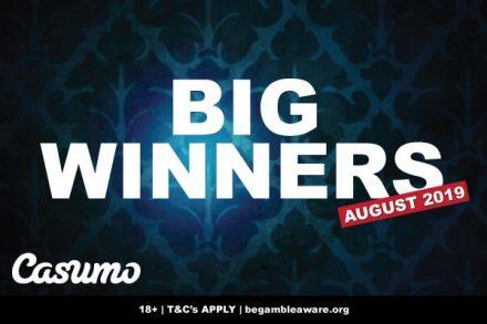 Casumo Casino Slots Big Winner In August 2019