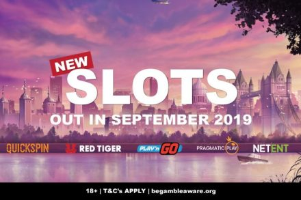 New Slots Out In September 2019