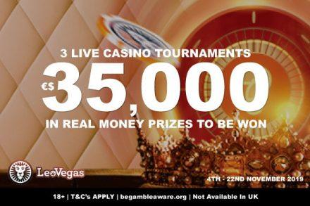Win Real Money In The Leo Vegas Live Casino Tournaments