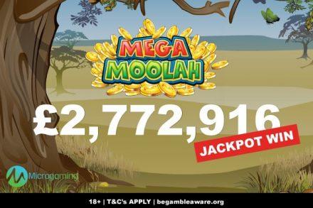 Mega Moolah Slot Pays Out Over 2.7 Million To UK Slots Player