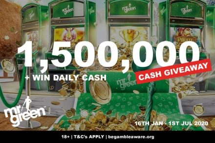 Mr Green Mobile Casino Real Cash Giveaway