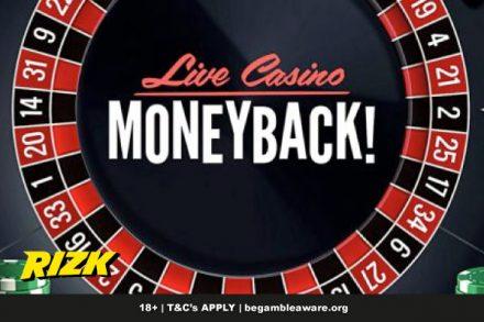 Rizk Live Casino Moneyback Rewards