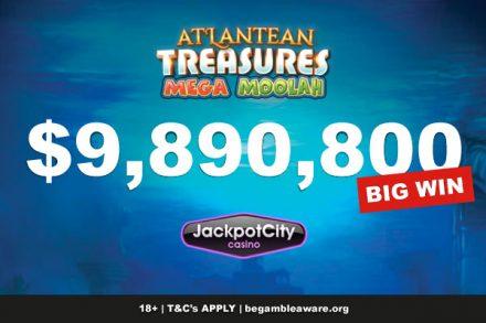 Jackpot City Atlantean Treasures Slot Win