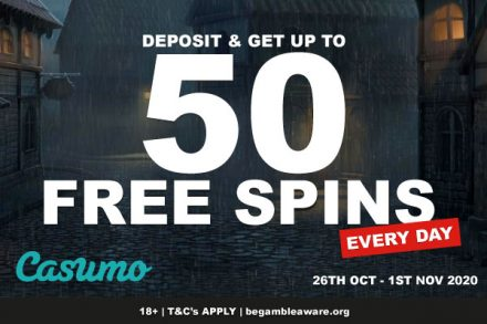 Get Casumo Free Spins Every Day This Week