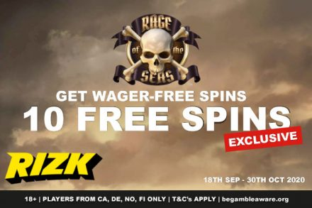Get NetEnt Rage of the Seas Free Spins at Rizk Casino