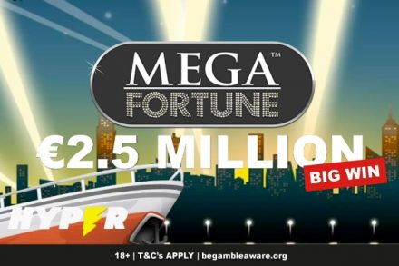 Mega Fortune Slot Pays Out 2.5 Million at Hyper Casino