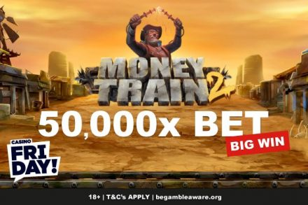 Huge 50,000X Bet Money Train 2 Slot Win at Casino Friday!