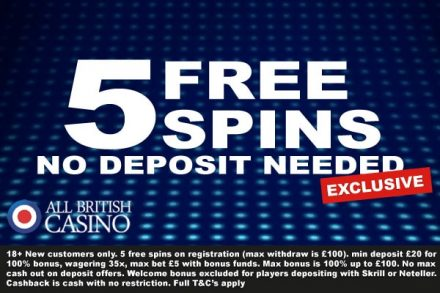 Get You All British Casino Free Spins Exclusive Bonus