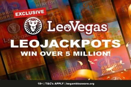 LeoVegas Casino adds €$5 Million LeoJackpots