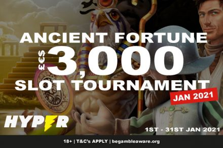 Enter To Win The Hyper Casino Slot Tournament January 2021